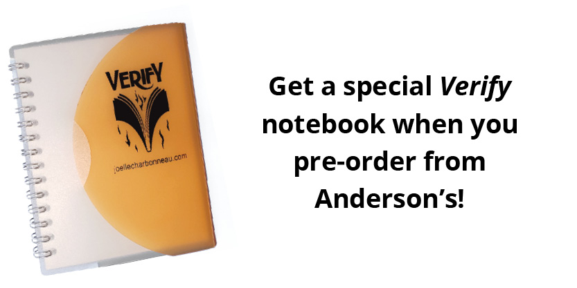 Special Verify notebook for pre-orders with Anderson's