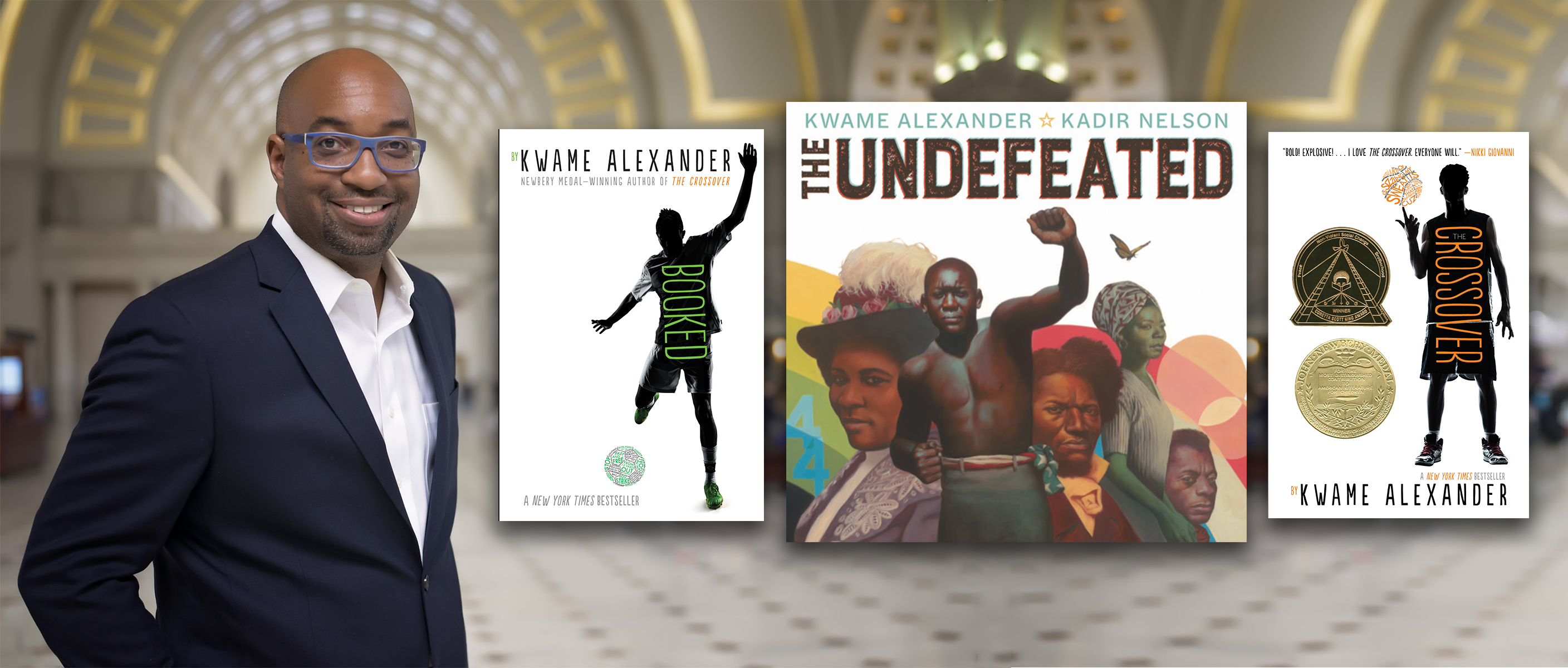 Booked, The Crossover, and The Undefeated by Kwame Alexander
